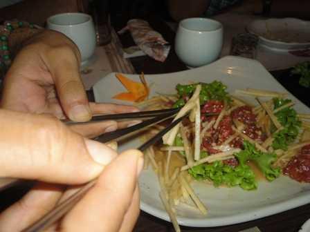 Korean raw beef salad