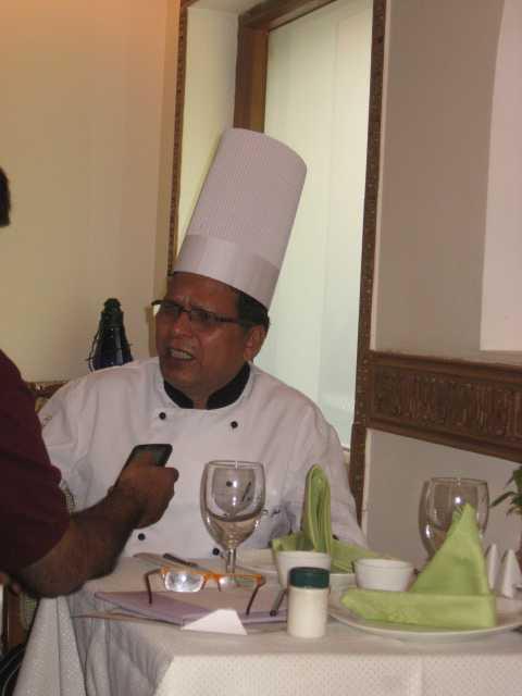 Sous Chef GD  Joshi at  Larry's China: Photo Right Impact Media  Inc.