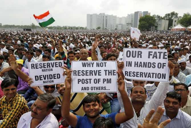 Protestors at Patel Chowk, Ahmedabad-fnbworld