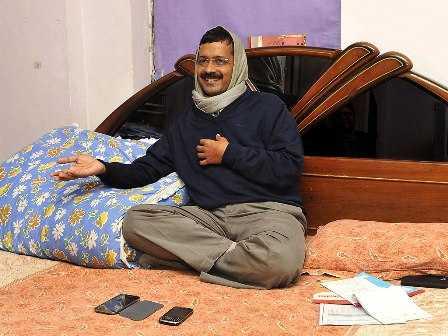 Kejriwal on bed-fnbworld