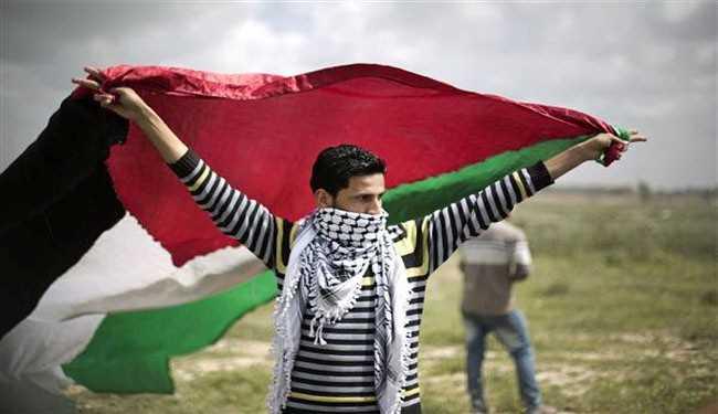 Man with Palestinian flag-fnbworlda
