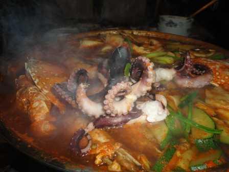 Seafood platter at Gung