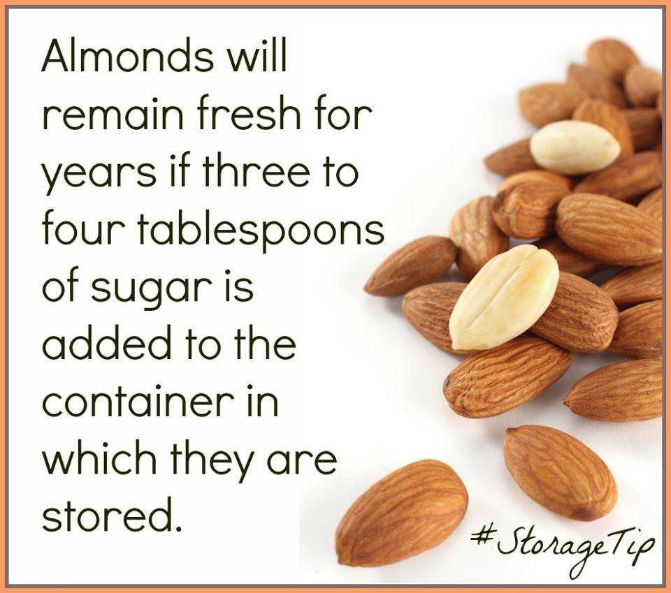 Preserving Almonds