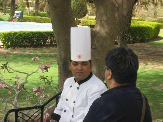 Chef Rawat at  the Pushkar Resort