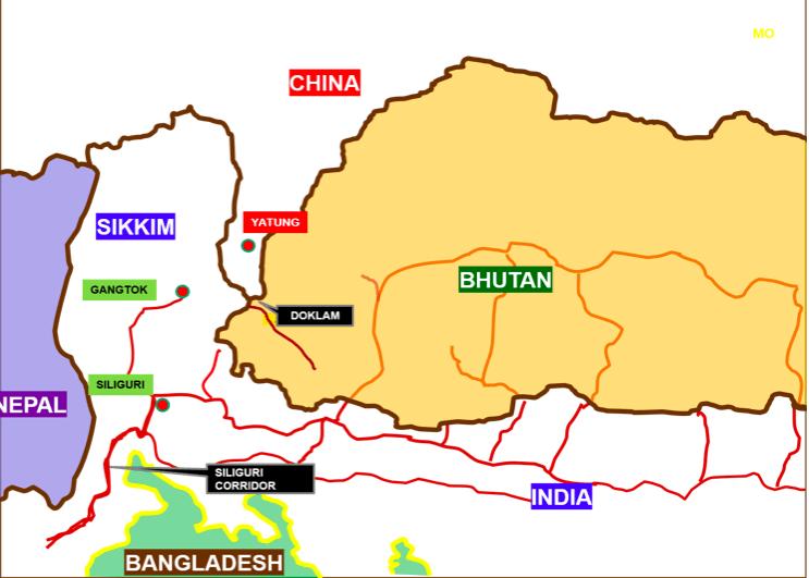Doklam map-fnbworld