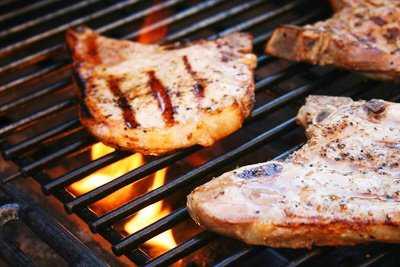Grilled tender pork