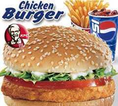 KFC chicken burger-fnbworld