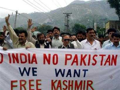 Burning Kashmir & Protestors