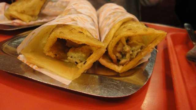 Nizam's Kathi kebabs