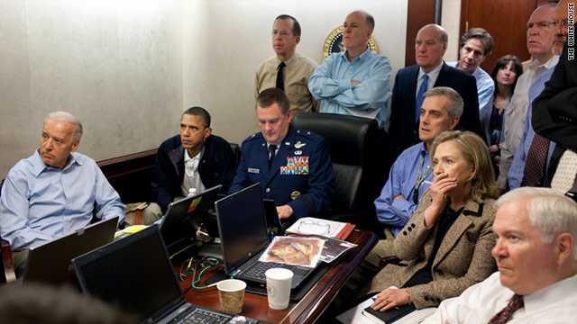 Obama Watching Osama raid-fnbworld