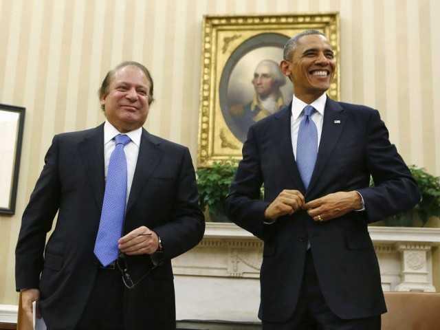 Pak PM Sharief with US Prez Obama-fnbworld