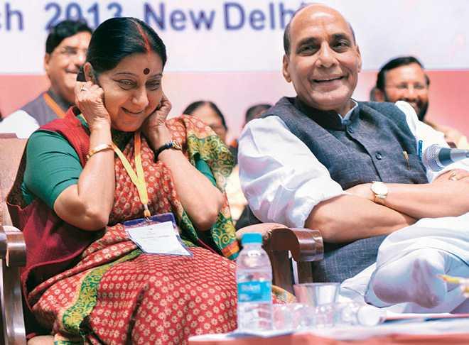 Sushma Swaraj and Rajnath Singh