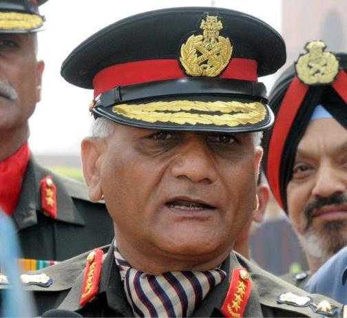 Indian Chief of Army Gen. V.K.Singh