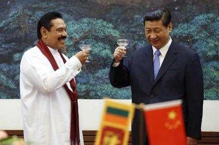 Sri Lankan President  Mahinda Rajapaksa with Chinese counterpart Xi Jinping - fnbworld