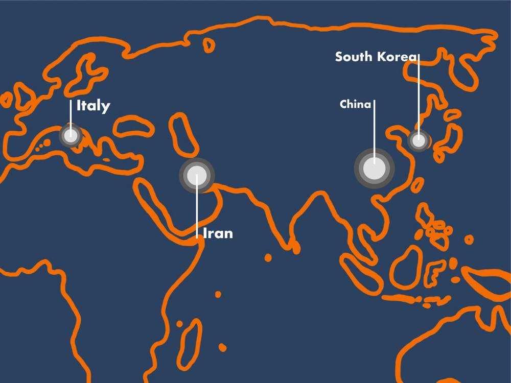 Coronavirus map-fnbworld