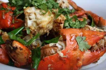 Ginger-onion crab