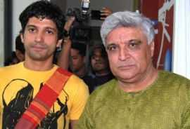 Javed Akhtar and Farhan Akhtar