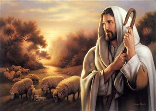 Jesus christ the shepherd in Bethlehem