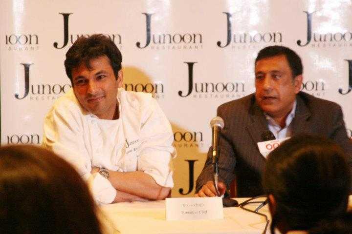chef vikas khanna with junoon's rajesh bhardwaj