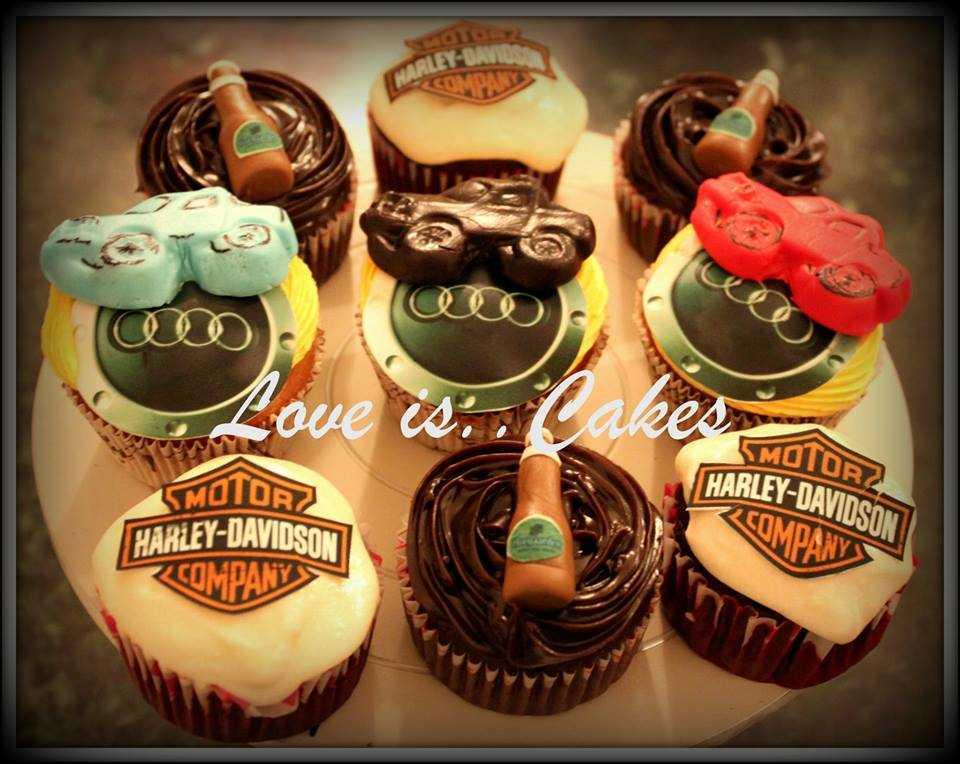 Fine cars shaped cakes