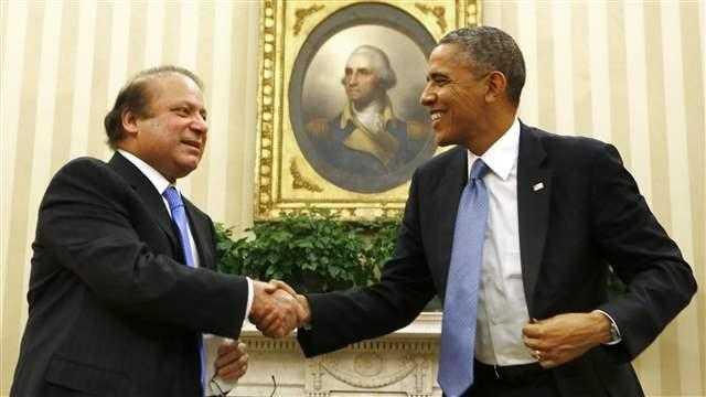US President Barack Hussein Obama with Pakistani Prime Minister Nawaz Sharif