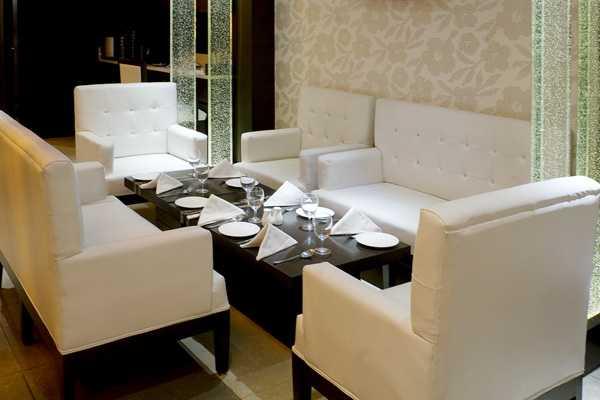 The white elegant sofa
