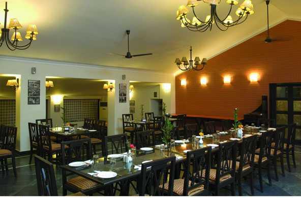 Dining hall  at  the resort