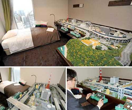 Train Room in Akihabara  luxury hotel